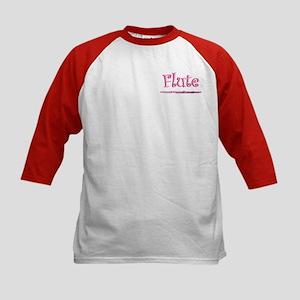 Pink Flute Kids Baseball Jersey