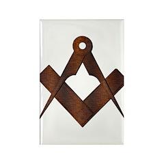 Masonic Antique Woody Rectangle Magnet