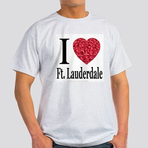I Love Ft. Lauderdale Ash Grey T-Shirt