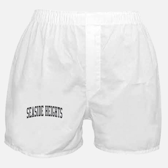 Seaside Heights New Jersey NJ Black Boxer Shorts