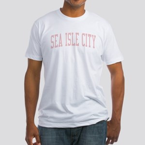 Sea Isle City New Jersey NJ Pink Fitted T-Shirt