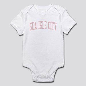 Sea Isle City New Jersey NJ Pink Infant Bodysuit