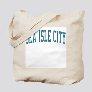 Sea Isle City New Jersey NJ Blue Tote Bag