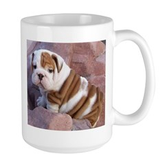 Bulldog coffee mugs and stein Large Mug