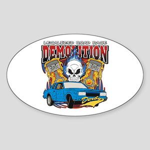 Demolition Derby Sticker (Oval)