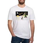 Night Flight/Chihuahua Fitted T-Shirt