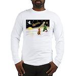Night Flight/Poodle Std Long Sleeve T-Shirt