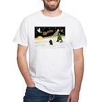 Night Flight/Poodle (Min) White T-Shirt