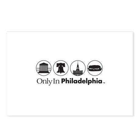 Only In Philadelphia - Icons Postcards (Package of