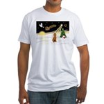 Night Flight/Poodle Std Fitted T-Shirt