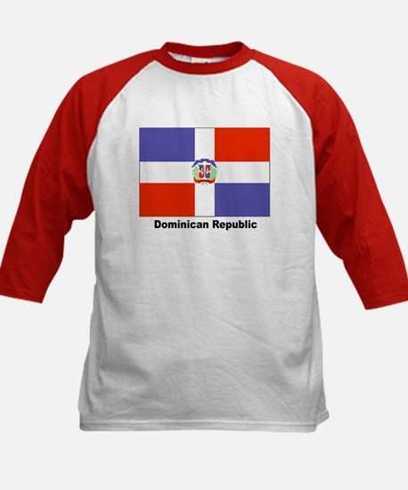 Dominican Republic Flag (Front) Kids Baseball Jers