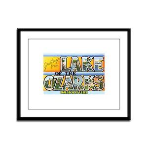 Lake Ozarks Missouri MO Framed Panel Print