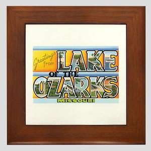 Lake Ozarks Missouri MO Framed Tile
