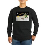 Night Flight/3 Chihuahuas Long Sleeve Dark T-Shirt