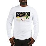 Night Flight/3 Chihuahuas Long Sleeve T-Shirt