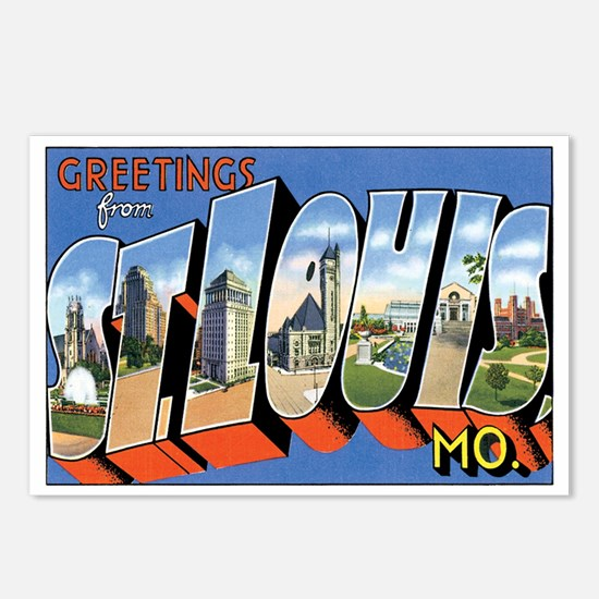 ST.Louis Missouri MO Postcards (Package of 8)