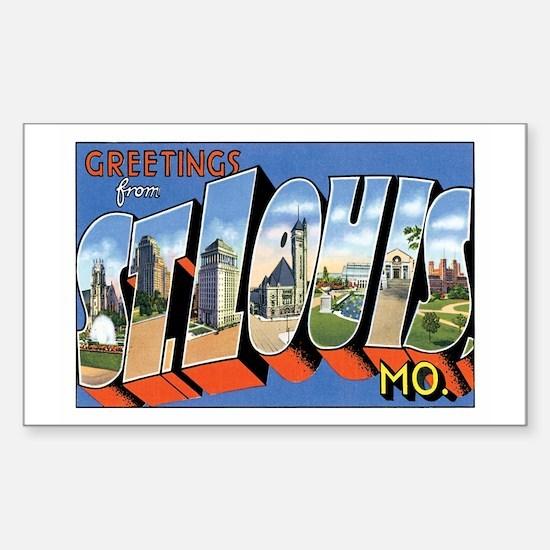 ST.Louis Missouri MO Rectangle Decal