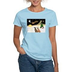 Night Flight/2 Greyhounds Women's Light T-Shirt