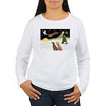 Night Flight/2 Greyhounds Women's Long Sleeve T-Sh