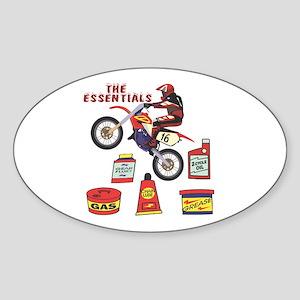 The Dirtbike Essentials Oval Sticker