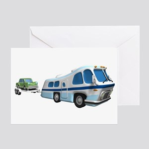 RV Towing Car Greeting Card