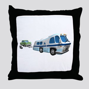 RV Towing Car Throw Pillow