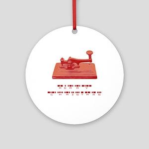 Morse Code Ornament (Round)