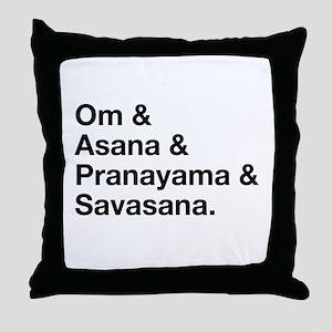 yoga ingredients Throw Pillow
