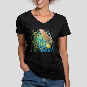 Match Point Tennis Women's V-Neck Dark T-Shirt