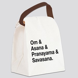 yoga ingredients Canvas Lunch Bag