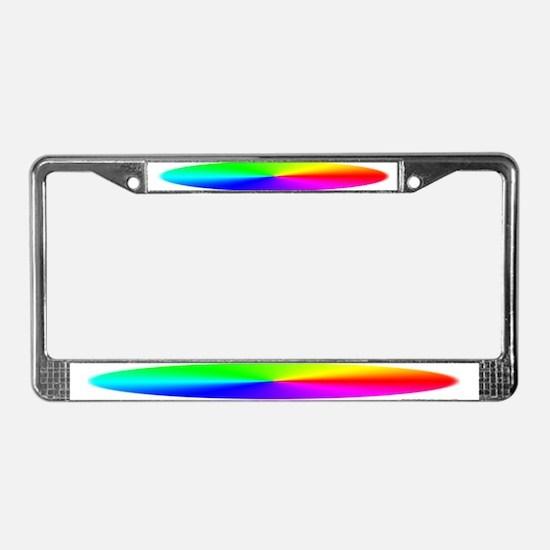 Rainbow<br> License Plate Frame