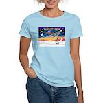 XmasSunrise/Corgi (BM) Women's Light T-Shirt