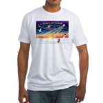 XmasSunrise/Chi Crested Fitted T-Shirt
