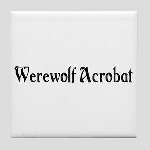 Werewolf Acrobat Tile Coaster