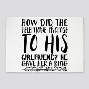 How did the telephone propose to hi 5'x7'Area Rug