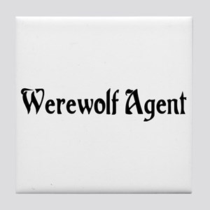 Werewolf Agent Tile Coaster