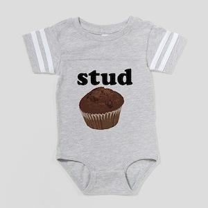 Stud Muffin Baby Football Bodysuit