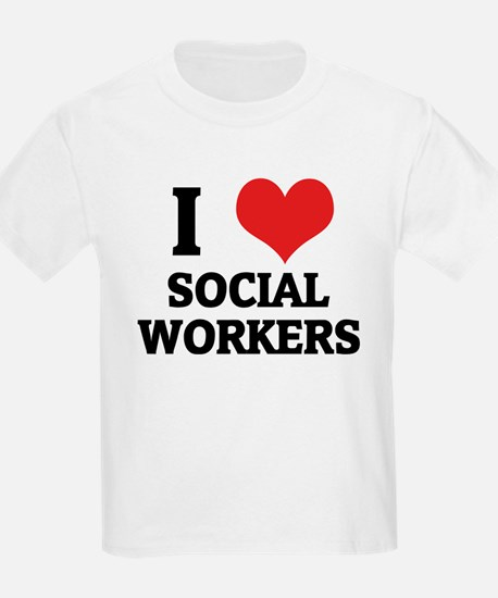 I Love Social Workers Kids T-Shirt