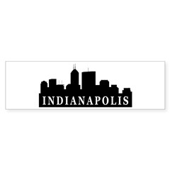 Indianapolis Skyline Bumper Sticker (10 pk)