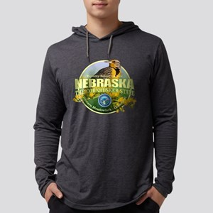 Nebraska State Bird & Flower Long Sleeve T-Shirt