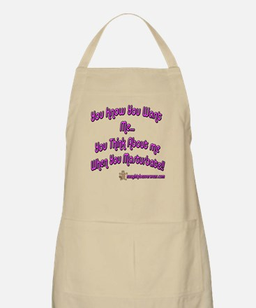 You Think About Me When You BBQ Apron