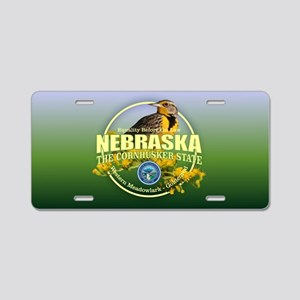 Nebraska State Bird & Flower Aluminum License Plat