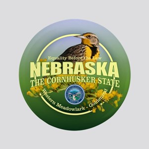 "Nebraska State Bird & Flower 3.5"" Button"