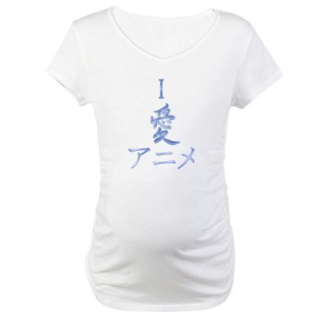 I Love Anime Maternity T-Shirt