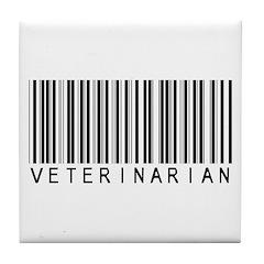 Veterinarian Barcode Tile Coaster