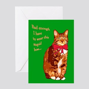 Cat Christmas card Greeting Card