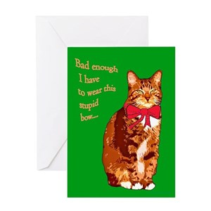 Funny cat christmas greeting cards cafepress m4hsunfo