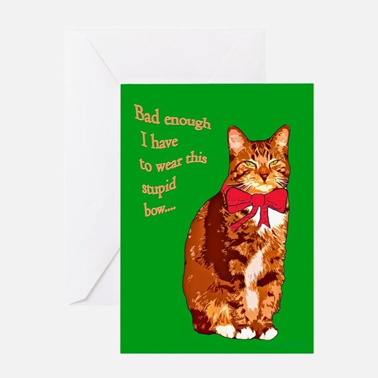 Cat Christmas card Greeting Card