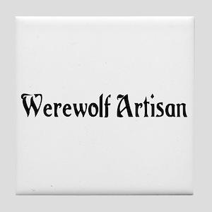 Werewolf Artisan Tile Coaster