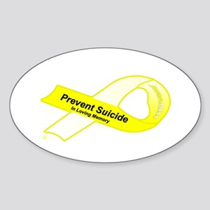 Prevent in Memory Oval Sticker